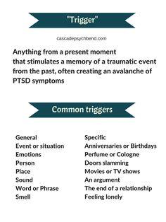 Recognized #PTSD triggers