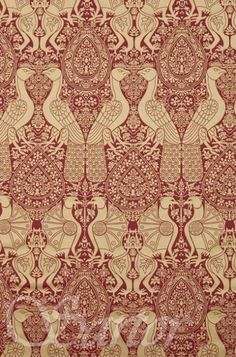 Silk Damask 14th cent. - Sartor This was the fabric I chose for the red dress, but over 40 metres sold out in less than 2 days :-( And they don't make the same fabric again, shame, I thought it would have been perfect for the challenge