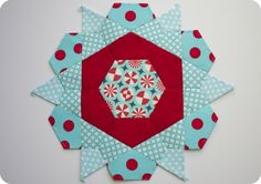 Sewing Over Pins: WIP Wednesday: Rose Star Quilt