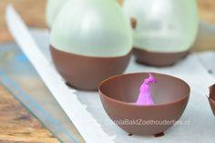 Chocoladebakjes maken met ballonnen