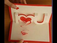 Tarjeta corazones (San Valentín). Valentine`s card. - YouTube