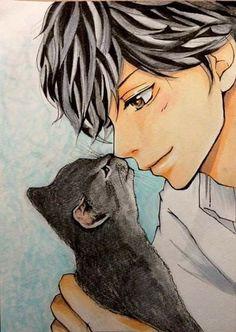 Hiiiii que lindo ao haru ride Fanart Manga, Manga Anime, Anime Art, Ao Haru Ride Anime, Noragami, Anime Love, Anime Guys, Tanaka Kou, Ride Drawing