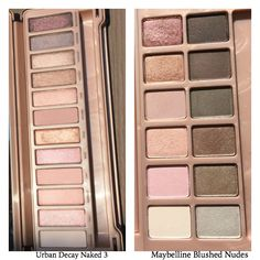 Maybelline Blushed Nudes Vs Urban Decay Naked 3