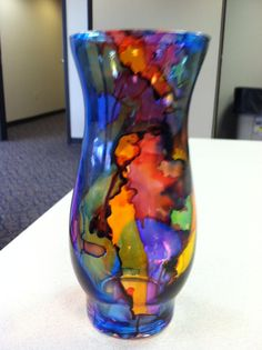 Alcohol ink vase