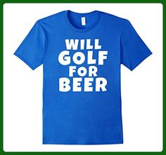Mens Will Golf For Beer Funny Cool Drinking T Shirt XL Royal Blue - Food and drink shirts (*Amazon Partner-Link)