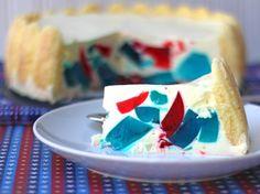Patriotic Cut Glass Cake - From Calculu∫ to Cupcake∫ Cake Recipes, Dessert Recipes, Refreshing Desserts, Glass Cakes, Different Cakes, Glass Baking Dish, My Dessert, Summer Treats, Summer Food