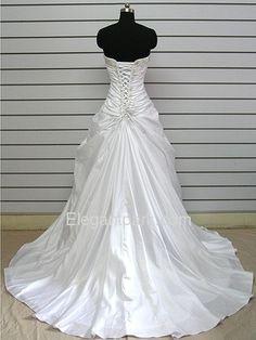 A-line Bal Grown Strapless Asymmetrical Sleeveless Charmeuse Classic Wedding Dress With Jacket (Jesslyn). Like the back