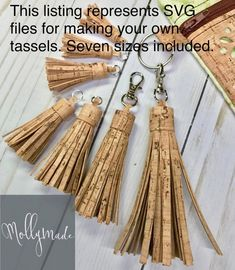 This SVG files for cutting Cork Fabric Tassels 7 sizes included is just one of the custom, handmade pieces you'll find in our zipper charms shops.From Molly Made Etsy shop Silhouette Cameo, Sewing Crafts, Sewing Projects, Cork Purse, Cork Material, Cork Fabric, Cork Crafts, Zipper Pulls, Svg File