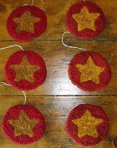 Hooked Rug star ornies
