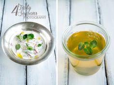 spring salad, mint tea