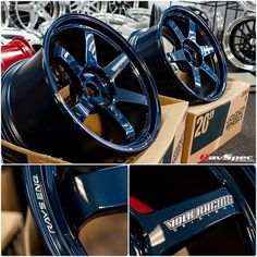 RAYS VOLK Racing Ultra - M SPEC Color Option: Mag blue, Diamond Black, Glossy Black *** ask for availability. Nissan GTR or / (** featuring face 3 and face Custom Wheels And Tires, Rims And Tires, Rims For Cars, Custom Car Parts, Custom Cars, Jdm Wheels, Volkswagen, Car Shoe, Car Mods