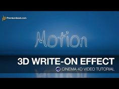 Cinema 4D Video Tutorial: Write-On Effect - YouTube