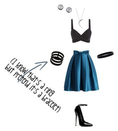 """""""Untitled 10"""" by vidiarocks ❤ liked on Polyvore featuring Chicwish, Repossi, L. Erickson and Kenneth Jay Lane"""