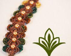Handmade micro macrame bracelet