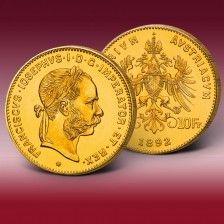 Goldmünze 4 Florin Franz Josef I. von Österreich