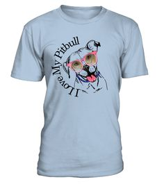 PIT BULL LOVER SHIRTS I LOVE MY PITBULL  **This Pit Bull Tee features a Cute Pitbull Dog and the words 'I Love My Pitbull' partially circling around him/her.      **Beautiful Pit Bull Gift for the Enthusiastic Pitbull Lover.  **Print On Front**    **Show off your True Love 'Pitbull Love'  Makes a Wonderful Gift for yourself or your Pit Bull Lover friend or family member ~Teezily
