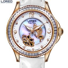 US $89.00 - Simple Fashion 316L Stainless Steel Rose Gold Watch Women Dress LOREO Watches Top Brand Luxury Diamond Quartz Watches For Girls