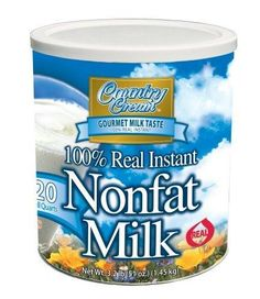 Country Cream 100/% Real Instant Non-fat Powdered Milk USDA Approved Vit A D