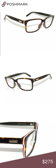 4b19b13b616 Gucci Eyeglasses 0272O Havana White and red Brand new with clear lens  Authentic Comes with Gucci