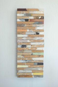 Wall art from paint stir sticks