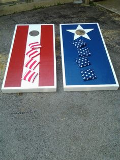#Patriotic #CornHole boards perfect for #July4th !