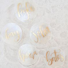 Capiz shell placecards