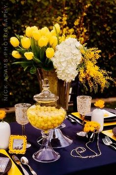Yellow black and gray wedding