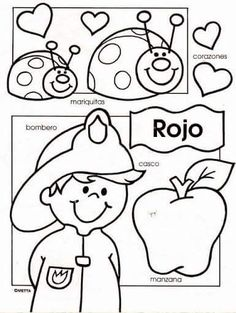 color pages for all the colores Preschool Spanish, Elementary Spanish, Spanish Activities, Preschool Activities, Spanish Worksheets, Spanish Teacher, Spanish Classroom, Teaching Spanish, Classroom Ideas