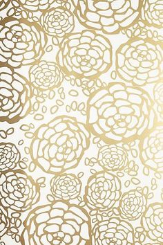 white and gold floral wallpaper - photo #21