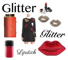 """""""Glitter, Glitter, Lipstick"""" by heartsabustin ❤ liked on Polyvore featuring beauty, MAC Cosmetics, Tom Ford, Kismet by Milka, Lulu Guinness, Alice + Olivia, LIPSTICK, glitter and polyvorecontest"""