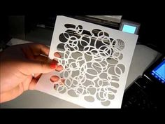 Cutting stencils with a silhouette cameo
