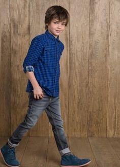 Jeans skinny grises