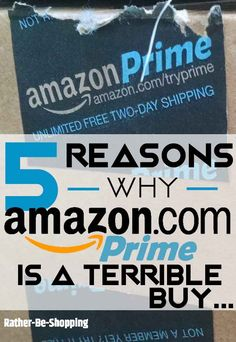 5 Reasons Why Amazon Prime Is a Terrible Buy via @kjames7475 Ways To Save Money, Money Tips, Money Saving Tips, How To Make Money, Frugal Living Tips, Frugal Tips, Preparing For Retirement, Amazon Hacks, Household Expenses