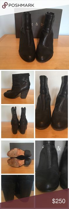 """Rag & Bone Classic Newbury Boot Rag & Bone black leather Classic Newbury Boot.  3.5"""" heel.  Very comfortable. These run about a half size small. I normally wear a size 8 and needed go up a half size. Original box included. rag & bone Shoes Ankle Boots & Booties"""