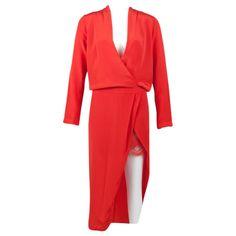 MASON Silk mid-length dress