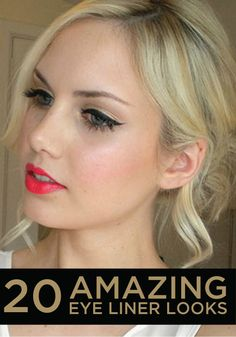 Spice up your normal makeup routine and try one these amazing eye liner looks.