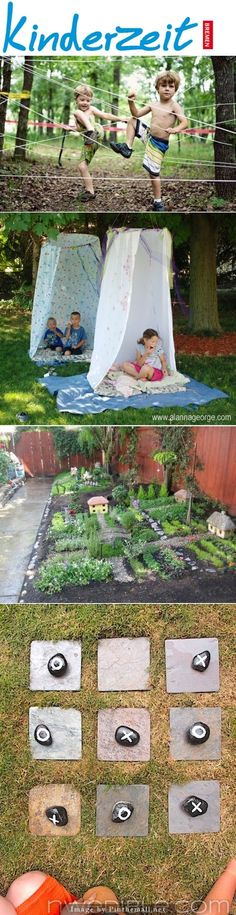 Kinderzeit im Garten! Es gibt viele tolle DIY Projekte, die den Kindern draußen Kids time in the garden! There are many great DIY projects out there for the kids Diy For Kids, Crafts For Kids, Outdoor Classroom, Outdoor Play, Kids And Parenting, Kids Playing, Summer Fun, Activities For Kids, Diy And Crafts