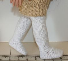 Cable tights for 18 dolls PDF Crochet by mytreasuredheirlooms (Craft Supplies & Tools, Patterns & Tutorials, Fiber Arts, Crochet, crochet, pfd pattern, doll clothes, cable tights, 18 inch dolls, american girl, digital download, pretend play, dress up, winter wear)