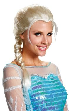 Costumes! Disney's Frozen Dlx Elsa The Snow Queen Costume Wig #DG #Wig