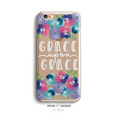 H103 - GRACE UPON GRACE - TPU CLEAR CASE – Prone to Wander
