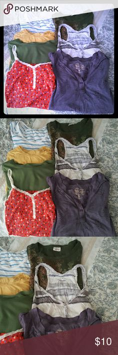 Bundle of Tops! Closet clean out! Selling a bundle of long sleeves and tank tops. I do not know the condition of all tops just cleaning out! Sizes range from xs,s and m. Tops