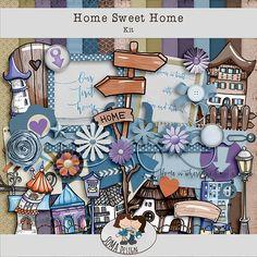 SoMa Design: Home Sweet Home - Kit Digital Scrapbooking, Sweet Home, House Design, Kit, Frame, Home Decor, Shop, Homemade Home Decor, House Beautiful