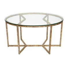 old world design winston champagne gold oval coffee table