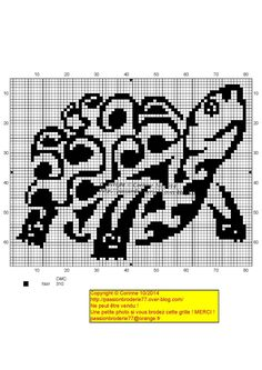 Tribal Turtle Cross Stitch Pattern
