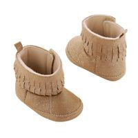 Baby Girl Carter's Prewalker Glitter Fringe Moccasin Boot Crib Shoes, Size: 2, Gold