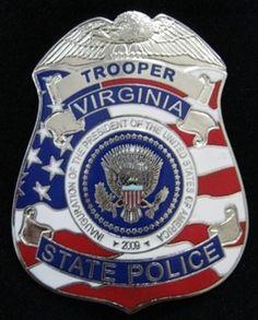 Virginia State Police Badge www.tweepyshop.com