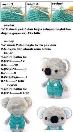 Amigurumi Toy little Koala Crochet Cat Pattern, Crochet Animal Patterns, Stuffed Animal Patterns, Baby Knitting Patterns, Crochet Animals, 4 Image, Baby Afghan Crochet, Amigurumi Toys, Crochet Dolls