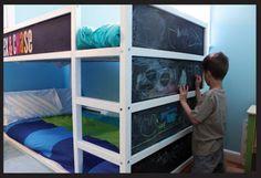 kura bed diy chalk board paint
