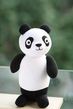 Personalized Plush Panda stuffed animal baby by Toyapartment, $26.99