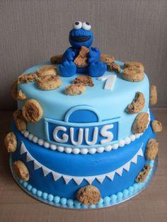 Taart voor de 1e verjaardag van onze kanjer! http://daantjeslittlebakery.jouwweb.nl/